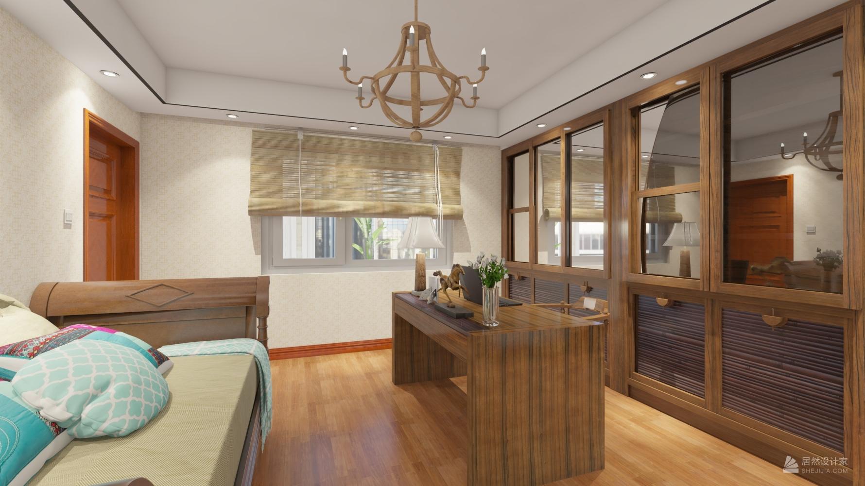 东南亚风格五室三厅装修设计图