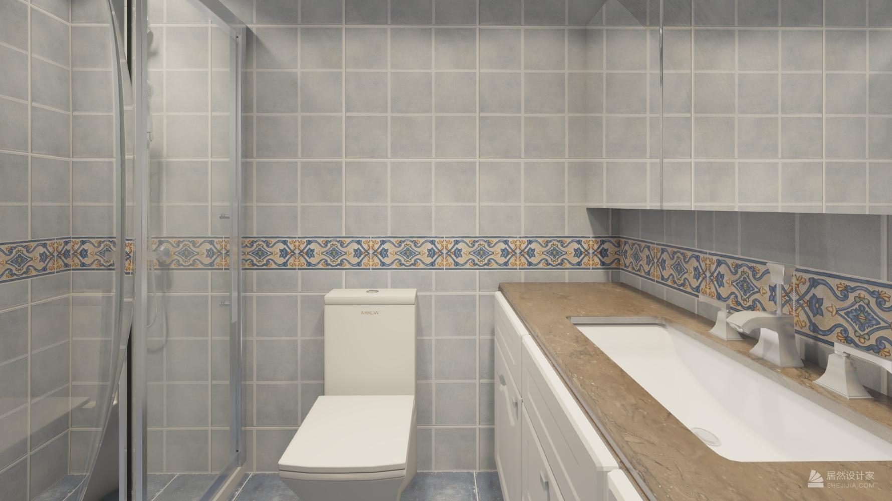 地中海风格两室一厅装修设计图
