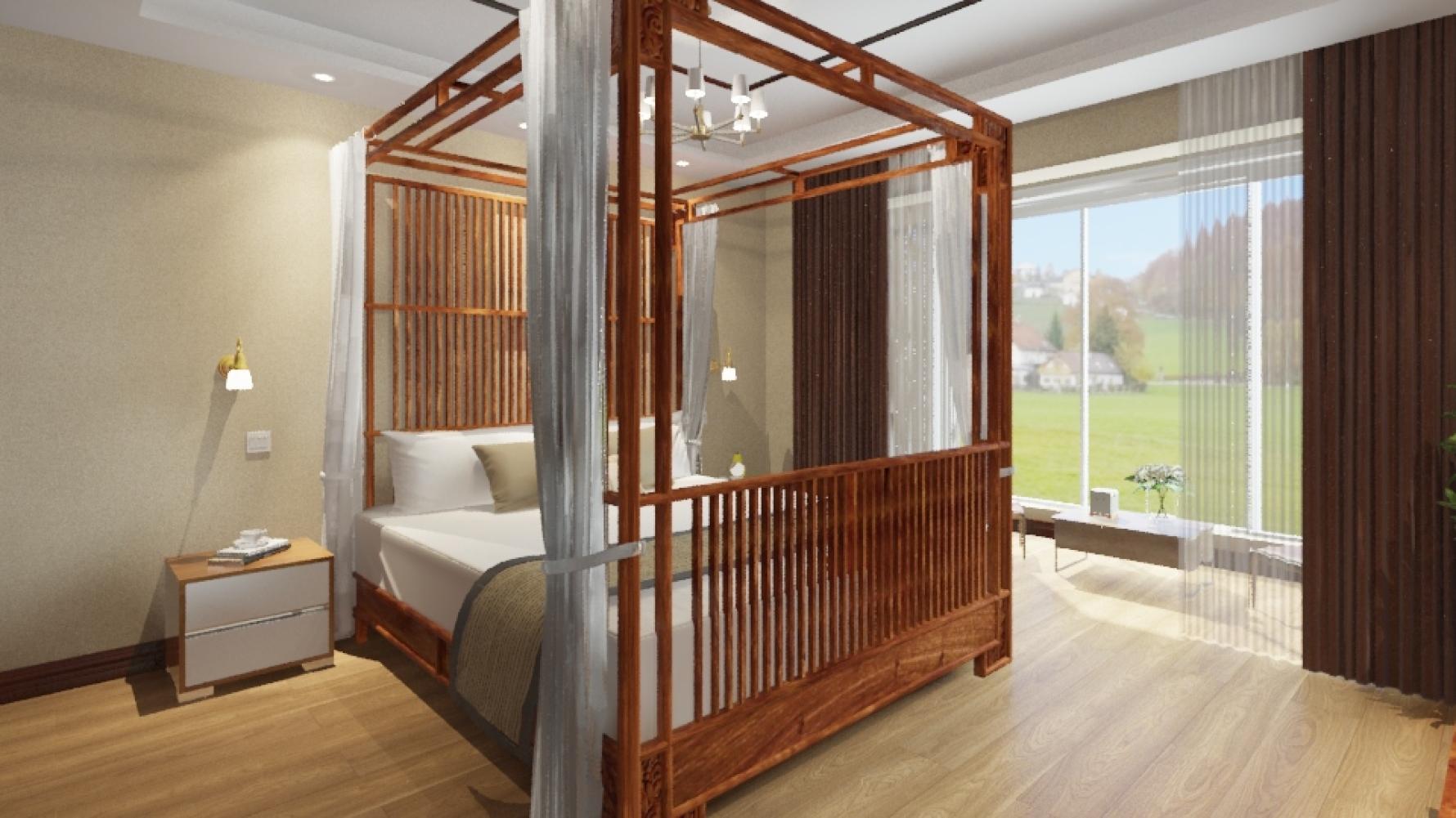 中式风格五室两厅装修设计效果图