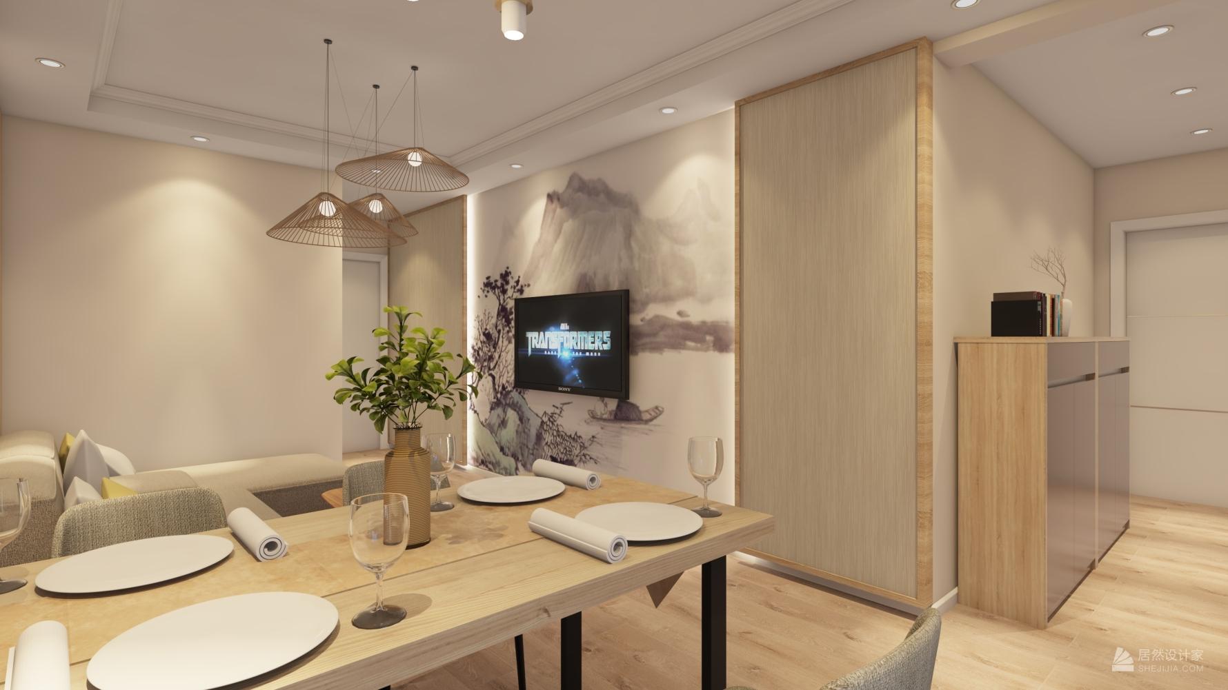 日式风格两室一厅装修设计图