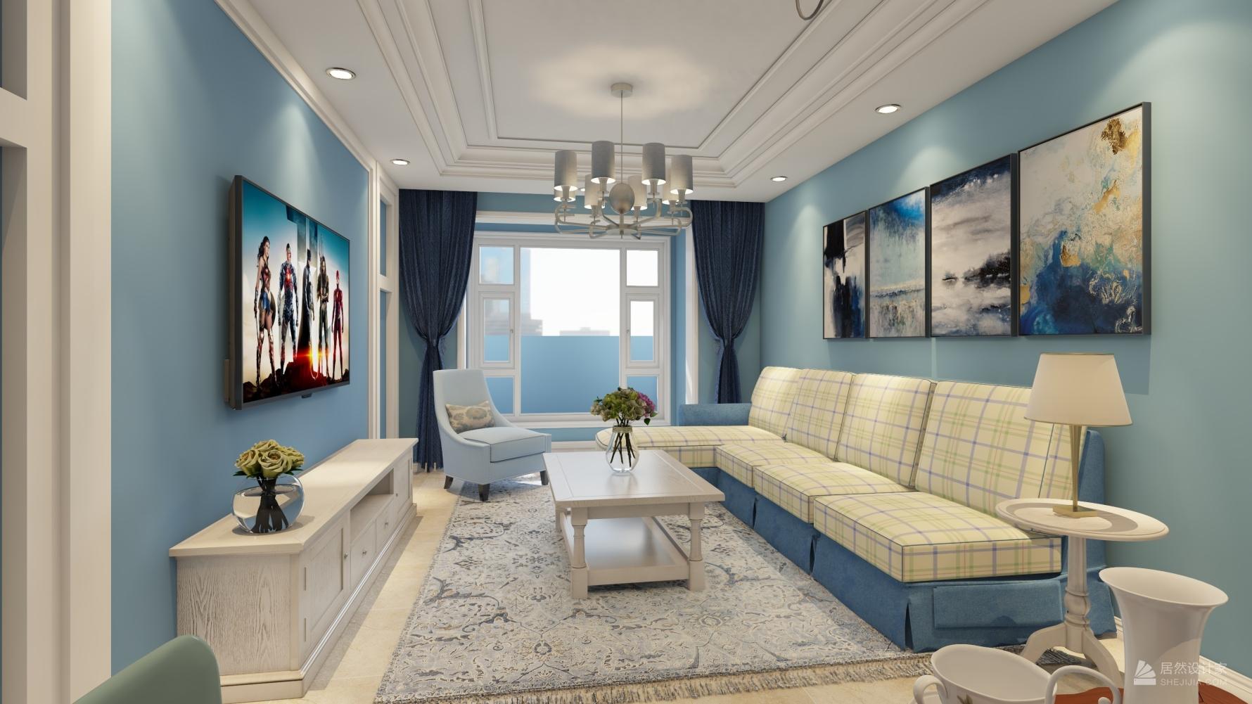 地中海风格三室两厅装修设计图