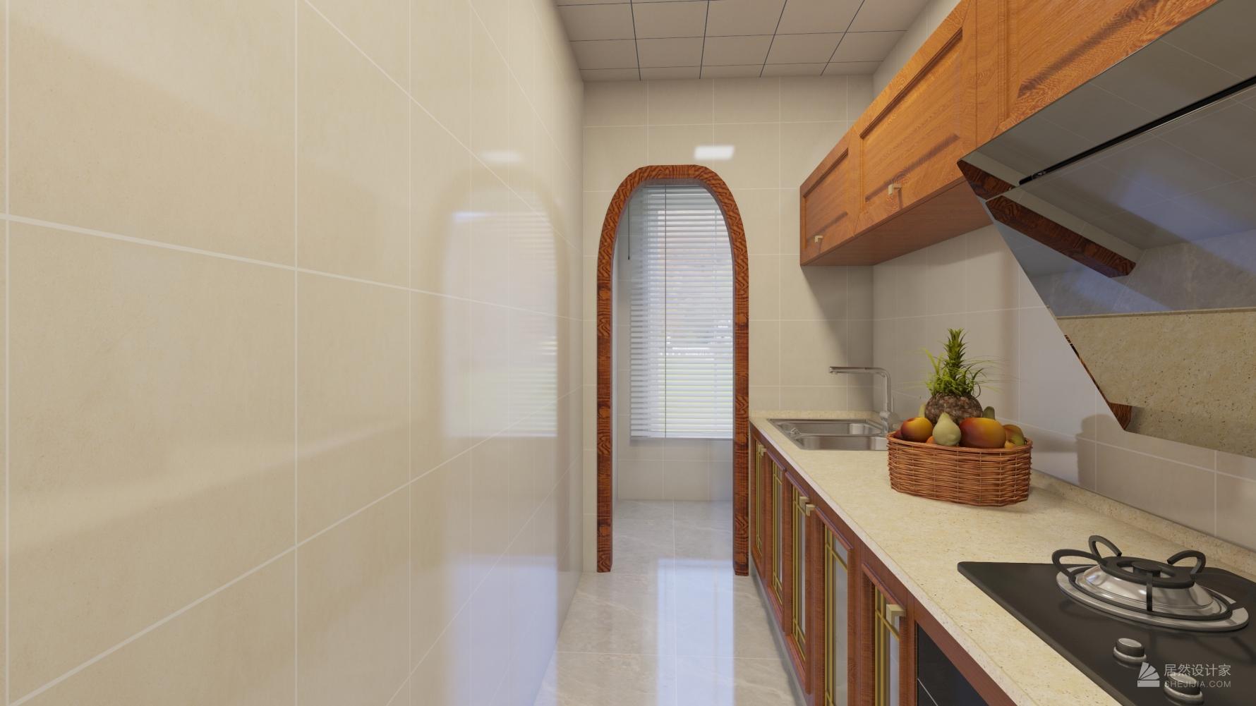 中式风格一室一厅装修设计效果图