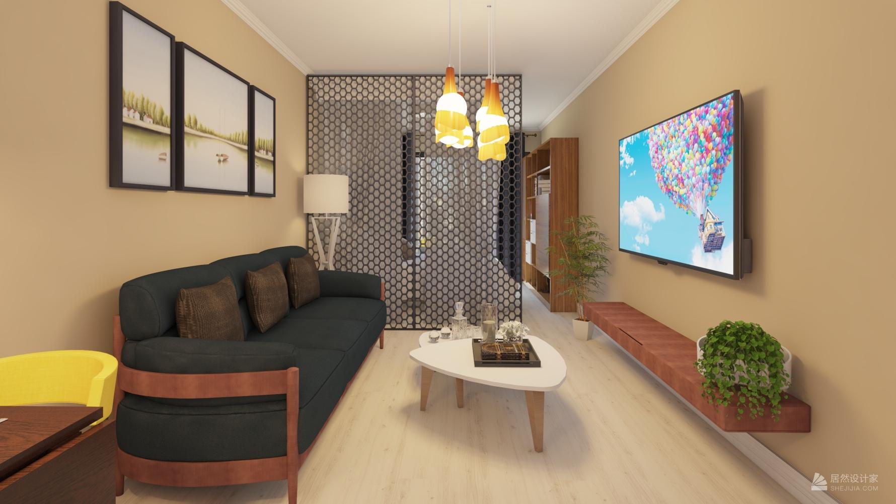 日式风格一室一厅装修设计图