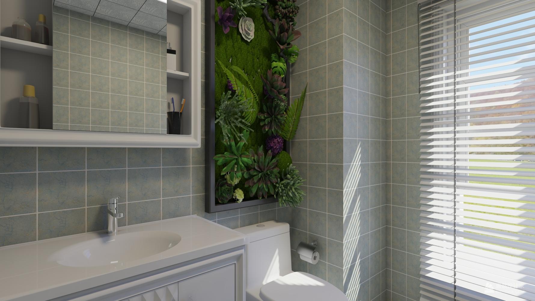 地中海风格三室两厅装修设计效果图