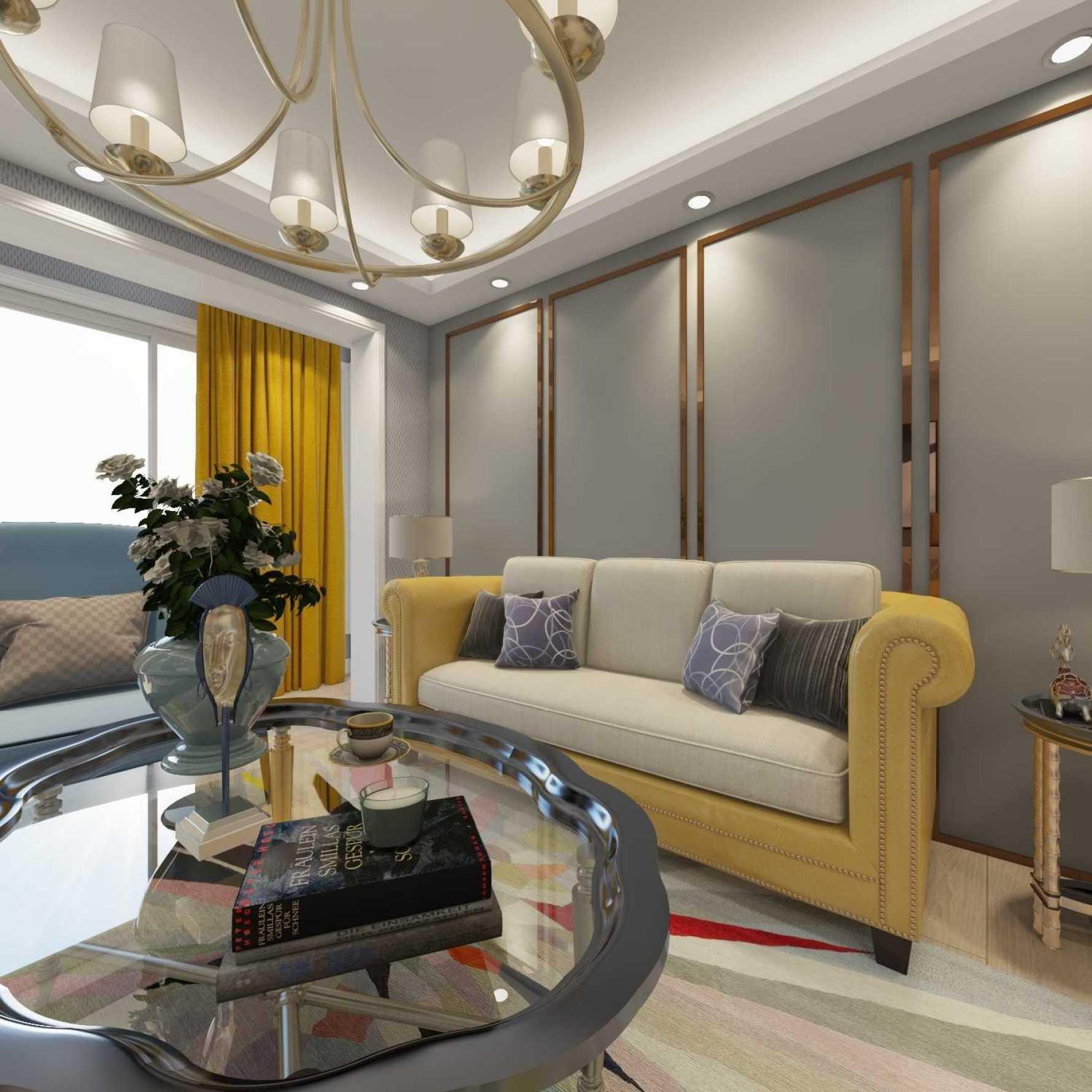 美式风格两室一厅装修设计图