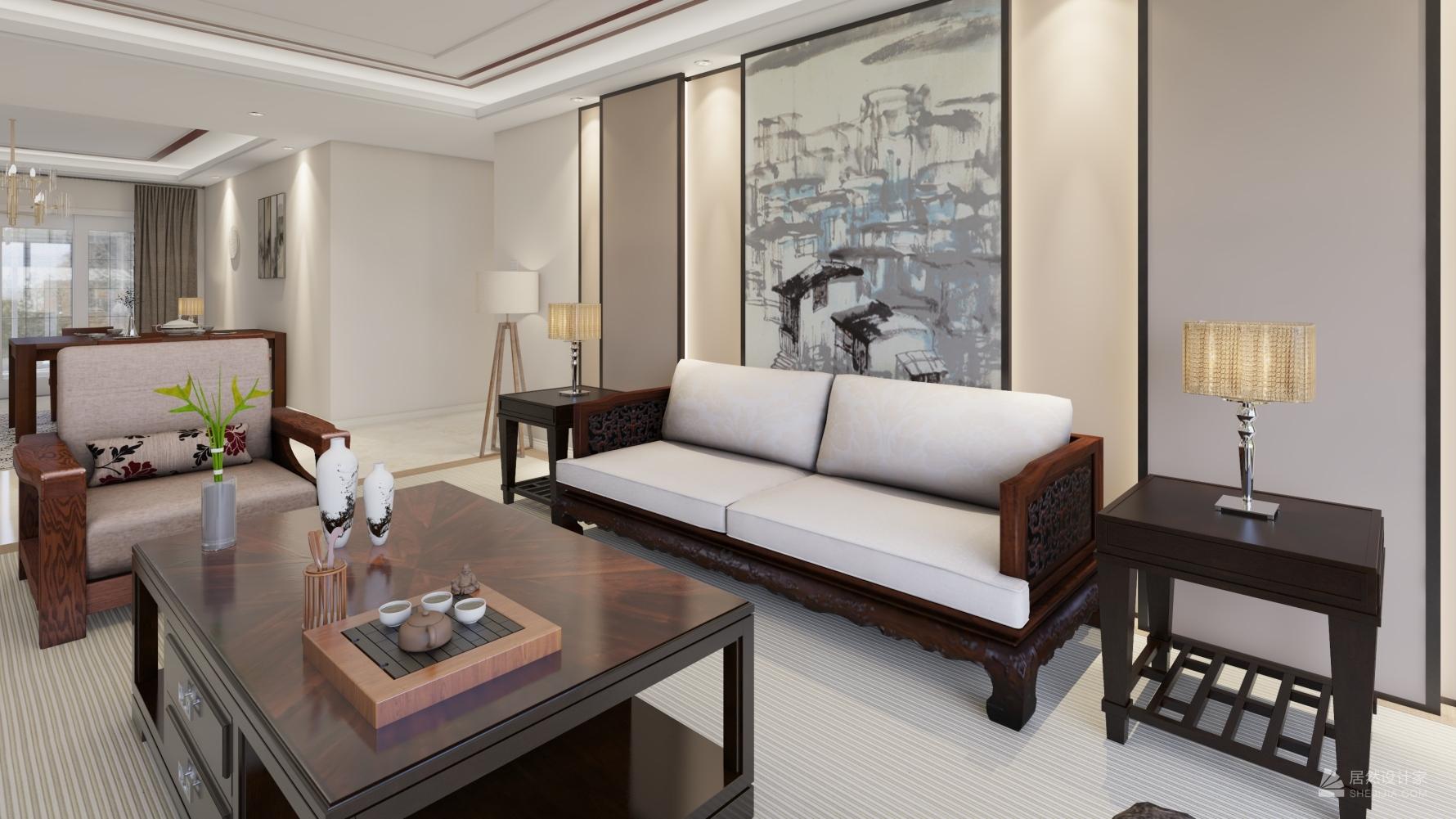 中式风格四室两厅装修设计图