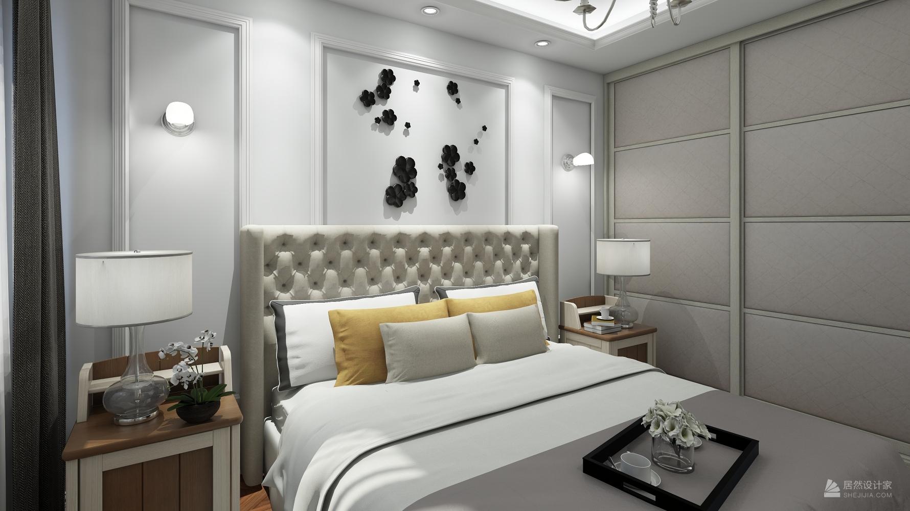 美式风格两室两厅装修设计图