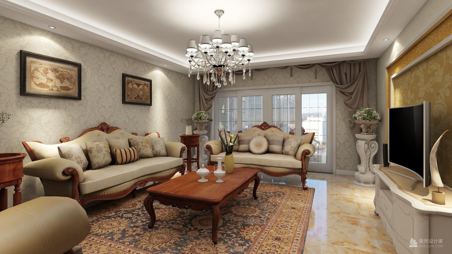 欧式风格四室两厅装修设计图