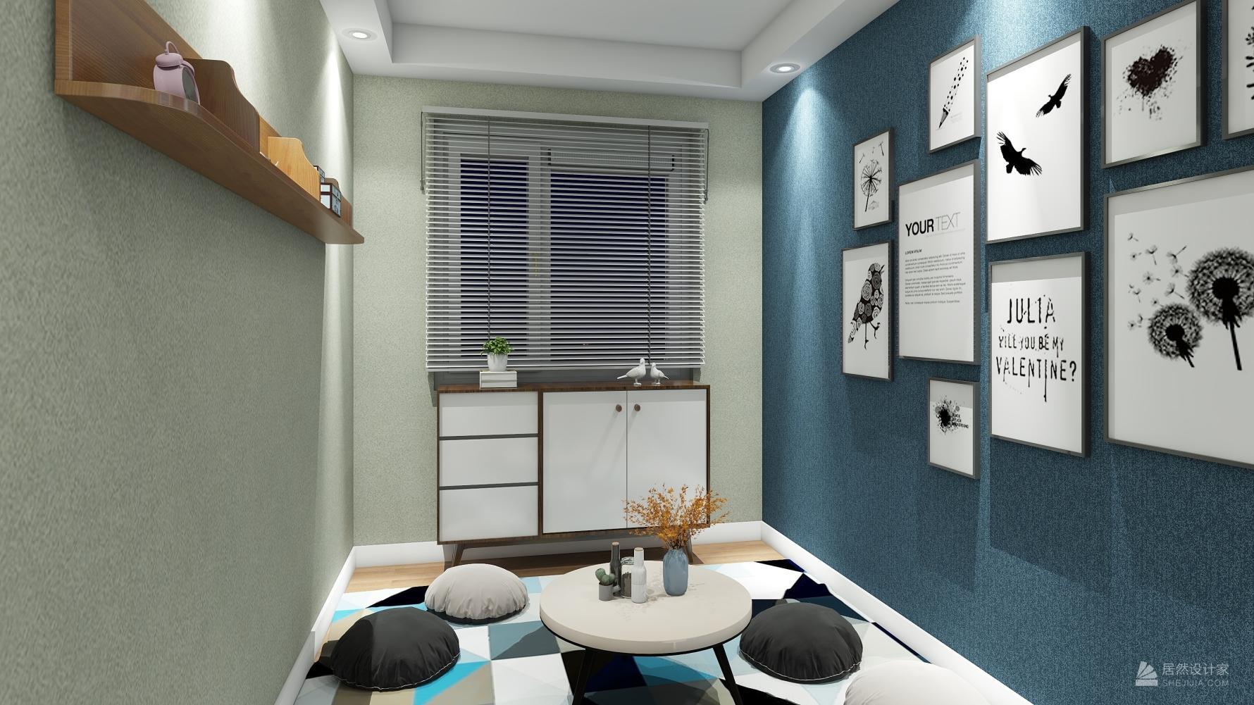 北欧风格三室一厅装修设计图