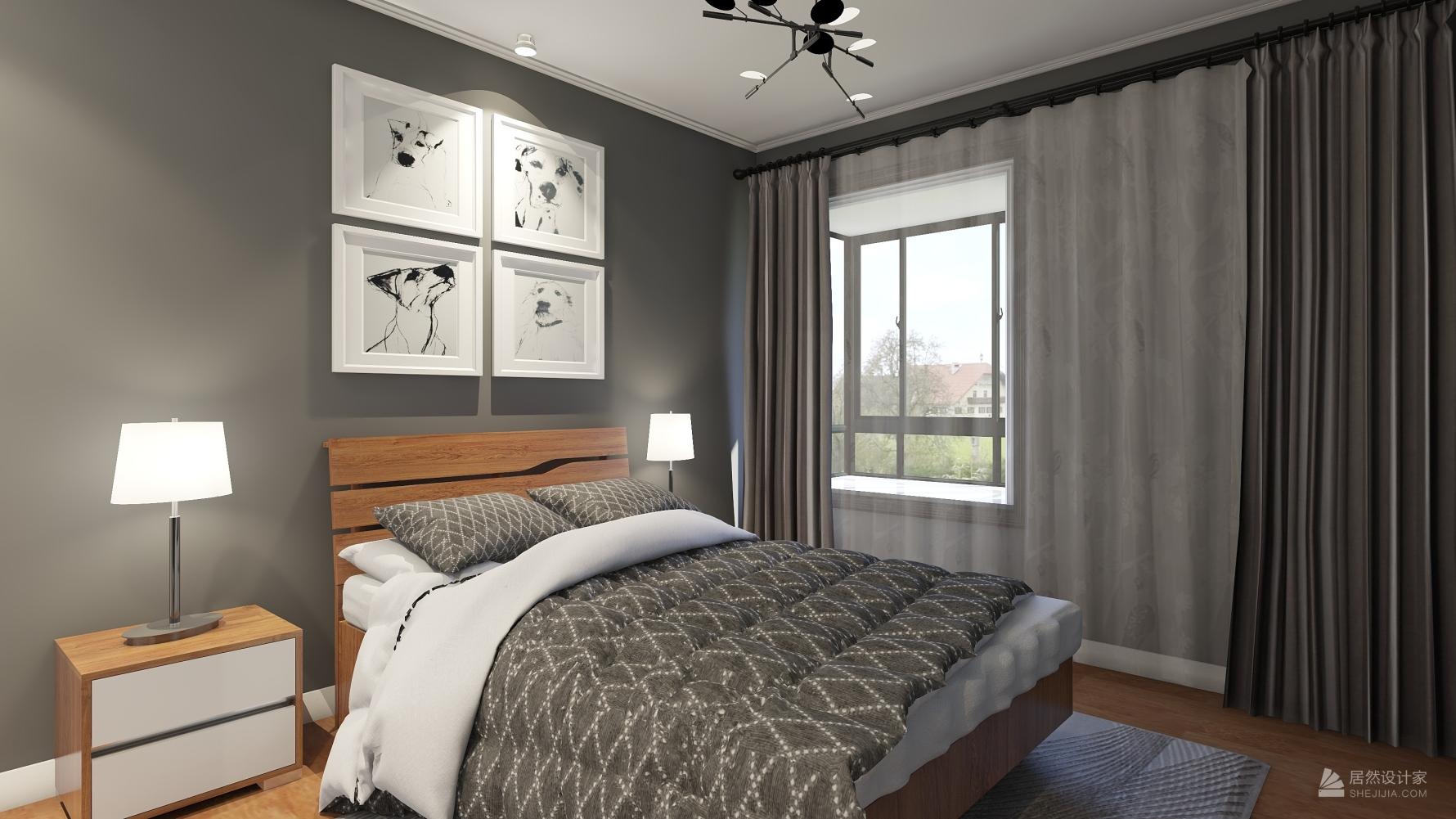 北欧风格两室一厅装修设计图