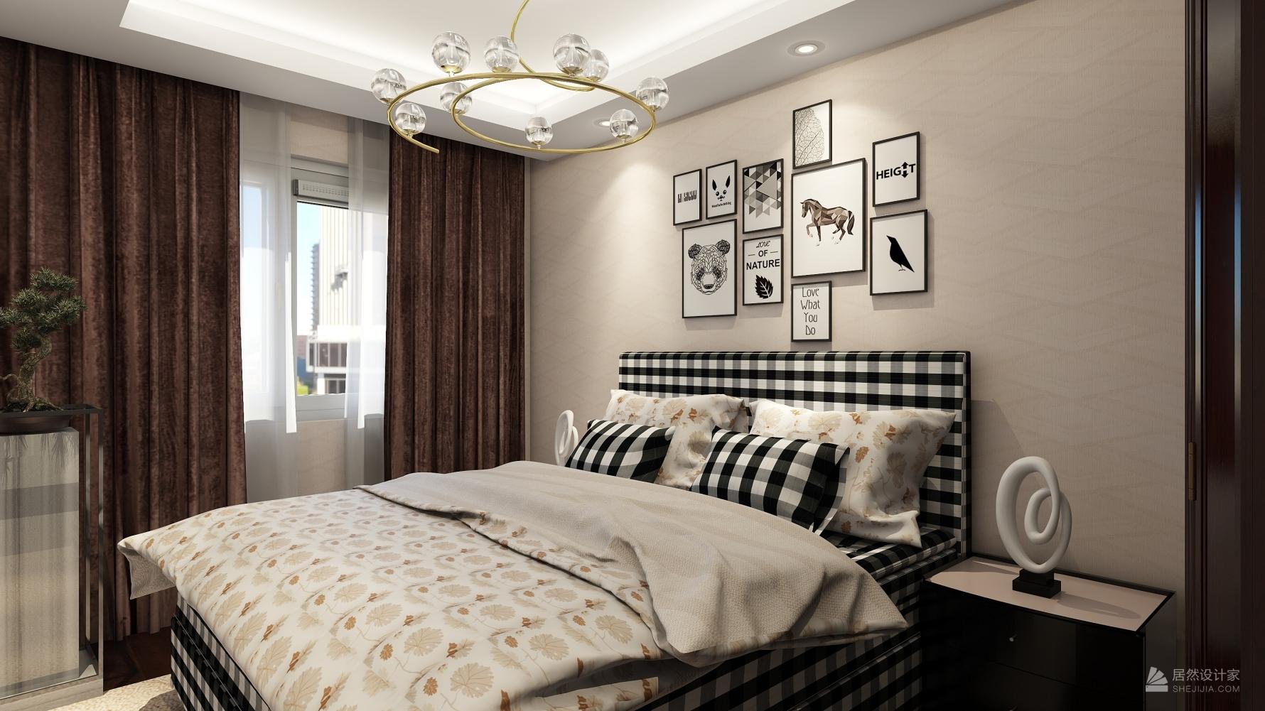 其它风格四室一厅装修设计图