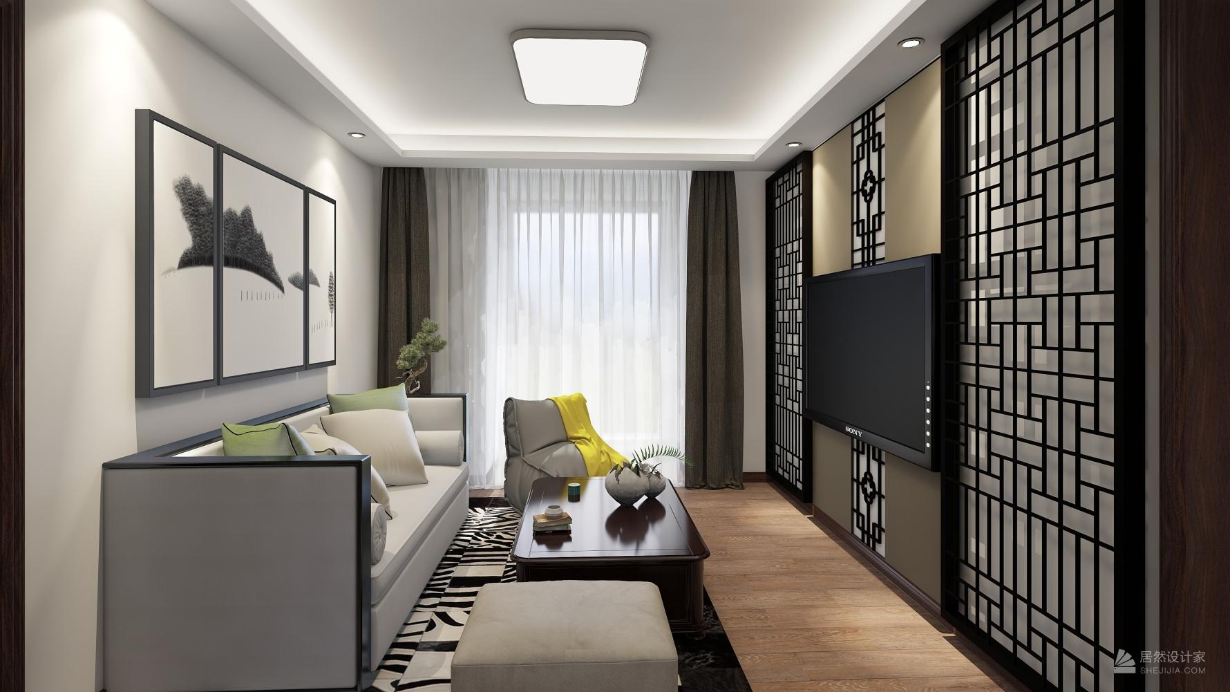 中式风格三室一厅装修设计图