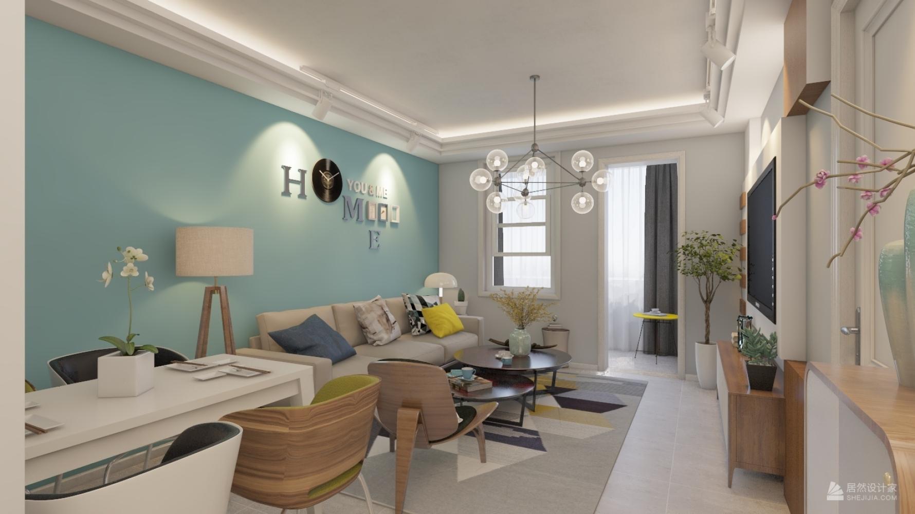 其它风格两室一厅装修设计图