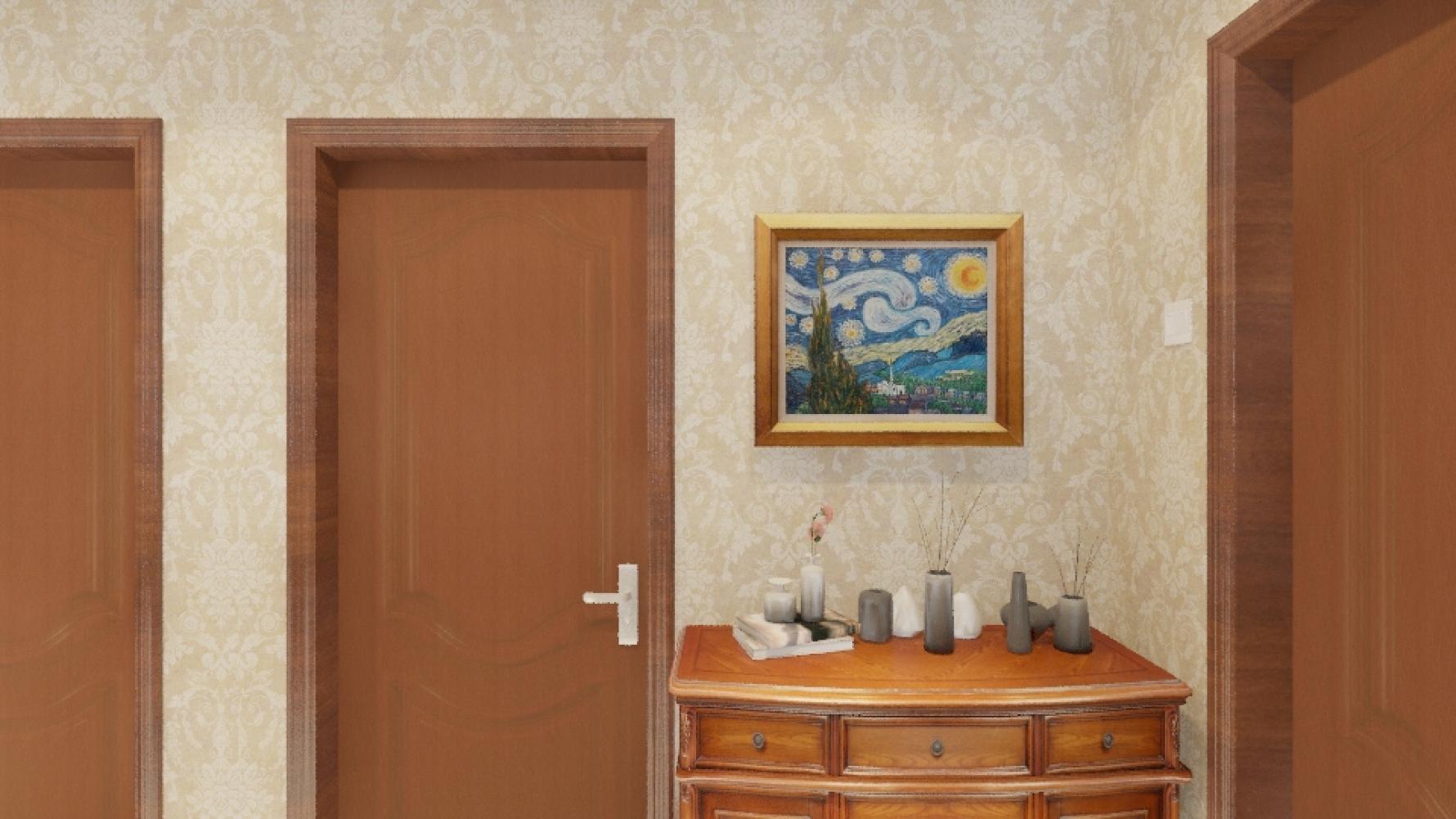 欧式风格四室一厅装修设计图