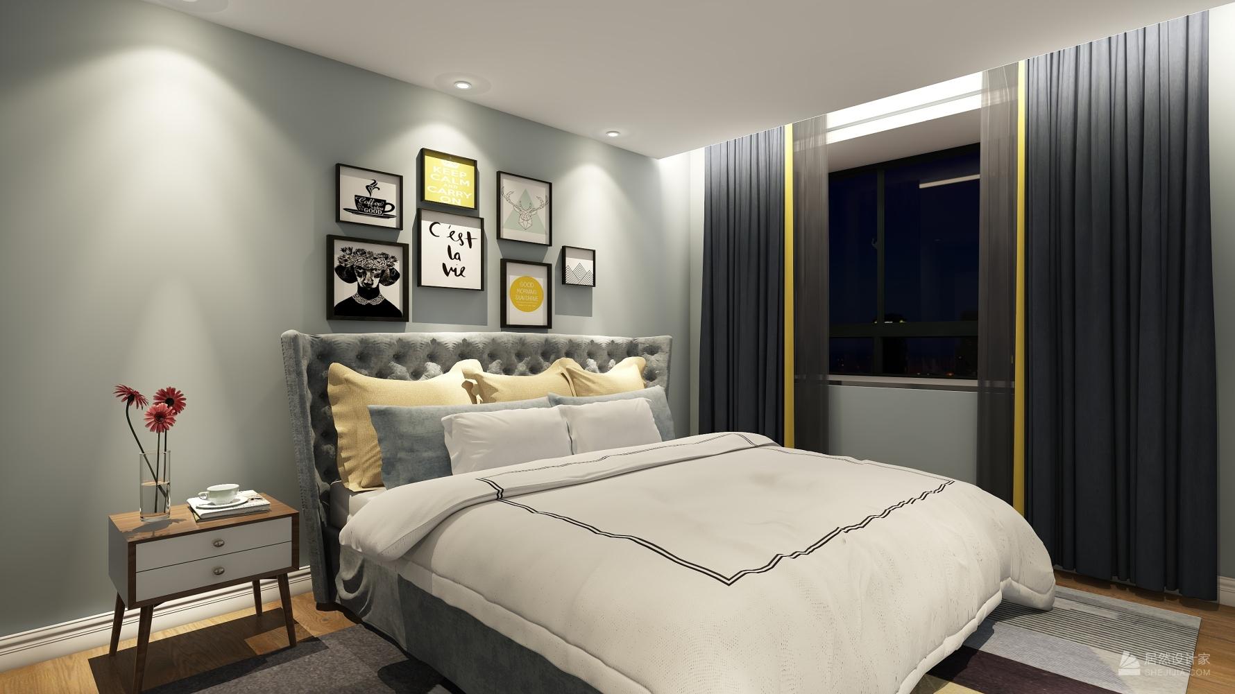 混搭风格两室两厅装修设计图