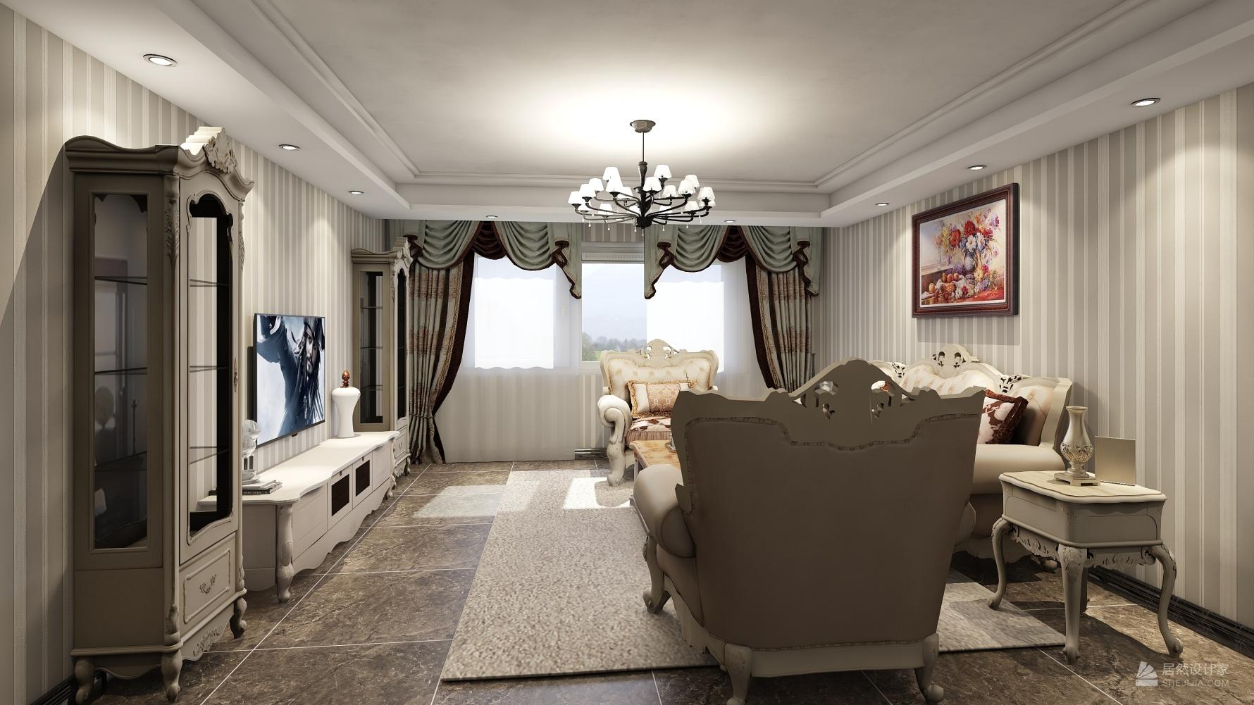 其它风格四室两厅装修设计图