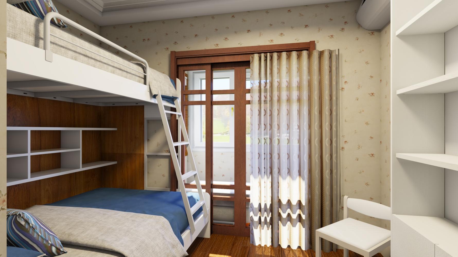 中式风格两室一厅装修设计效果图