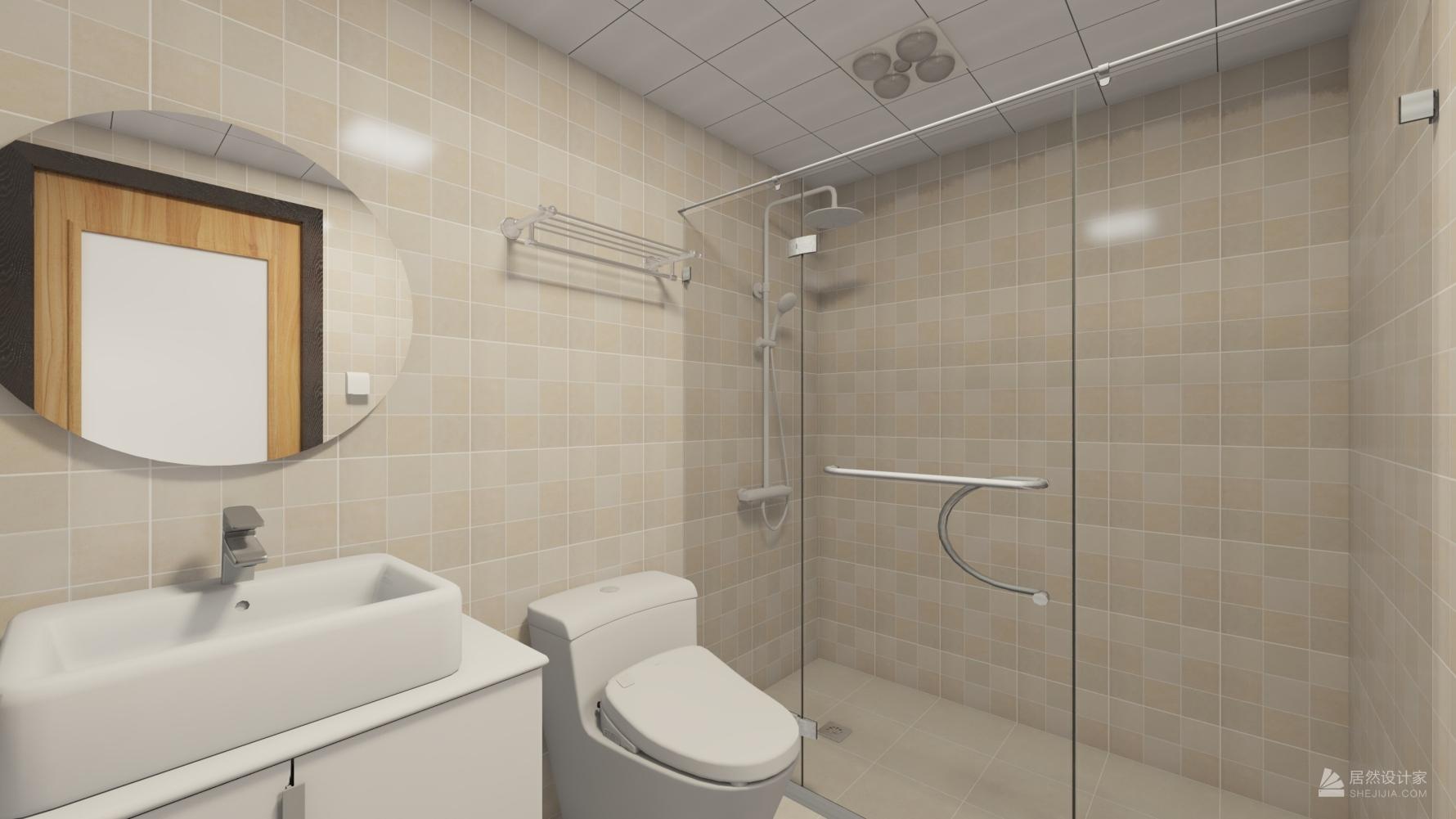 现代风格三室一厅装修设计图