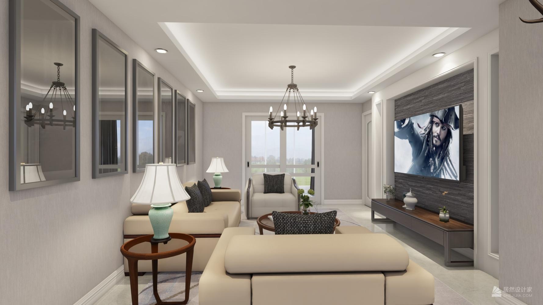 其它风格三室一厅装修设计效果图