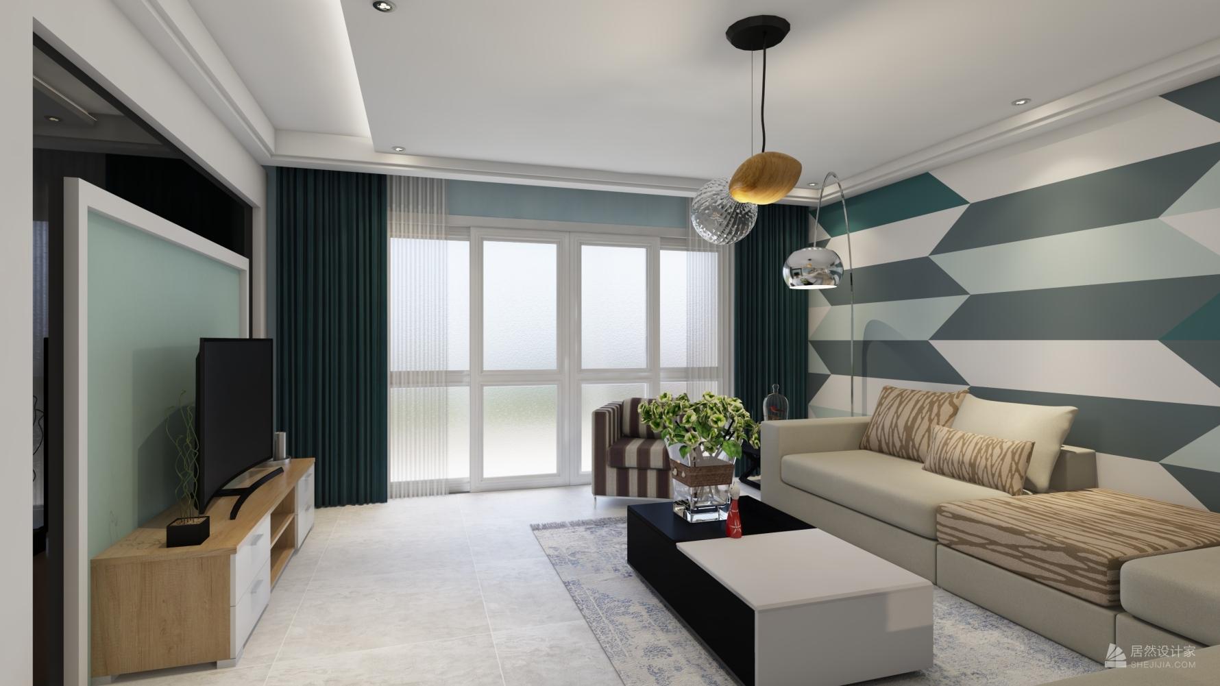 现代风格四室一厅装修设计图