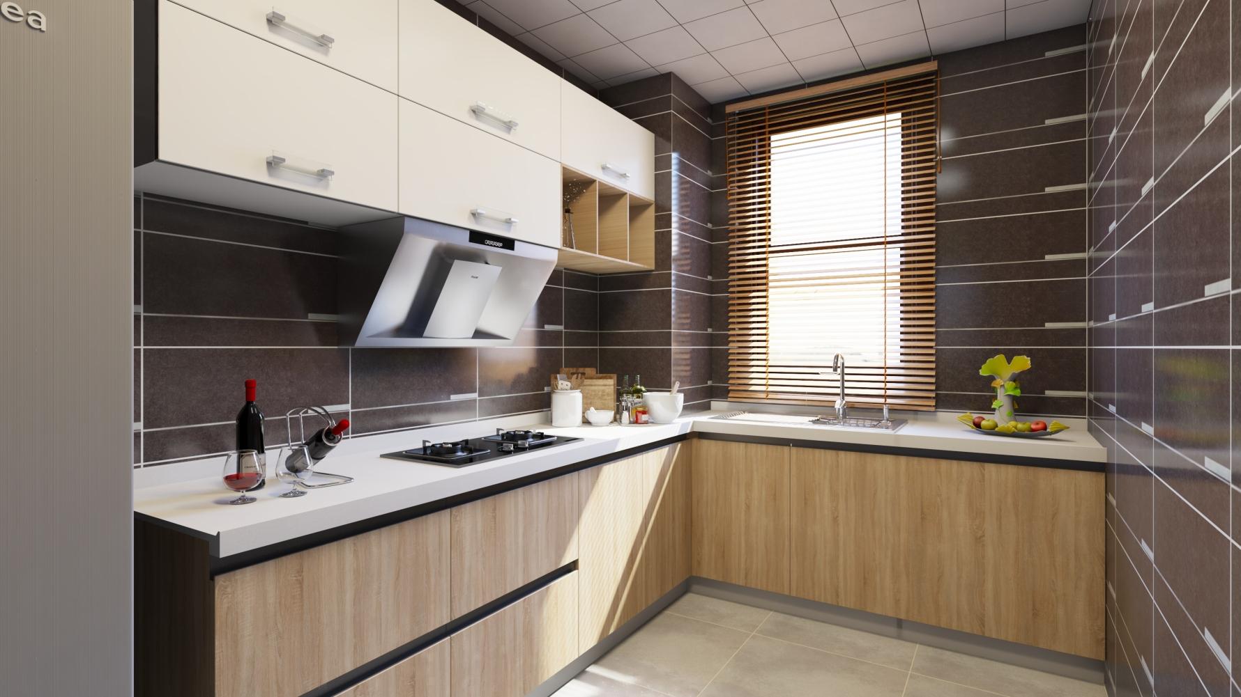 现代风格一室一厅装修设计图