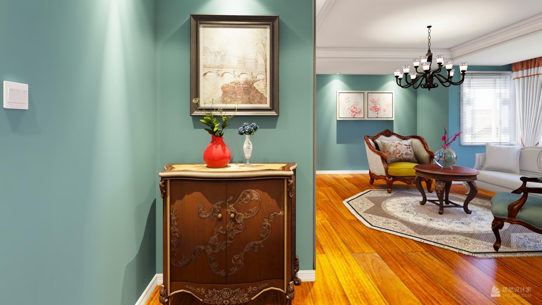 美式风格三室一厅装修设计图