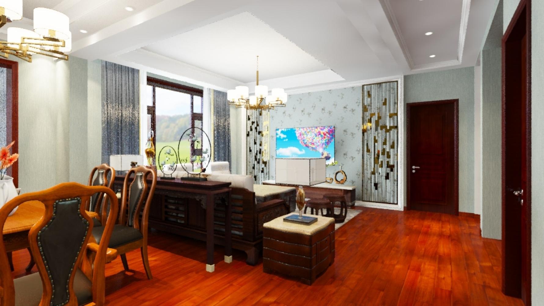 中式风格六室五厅装修设计图