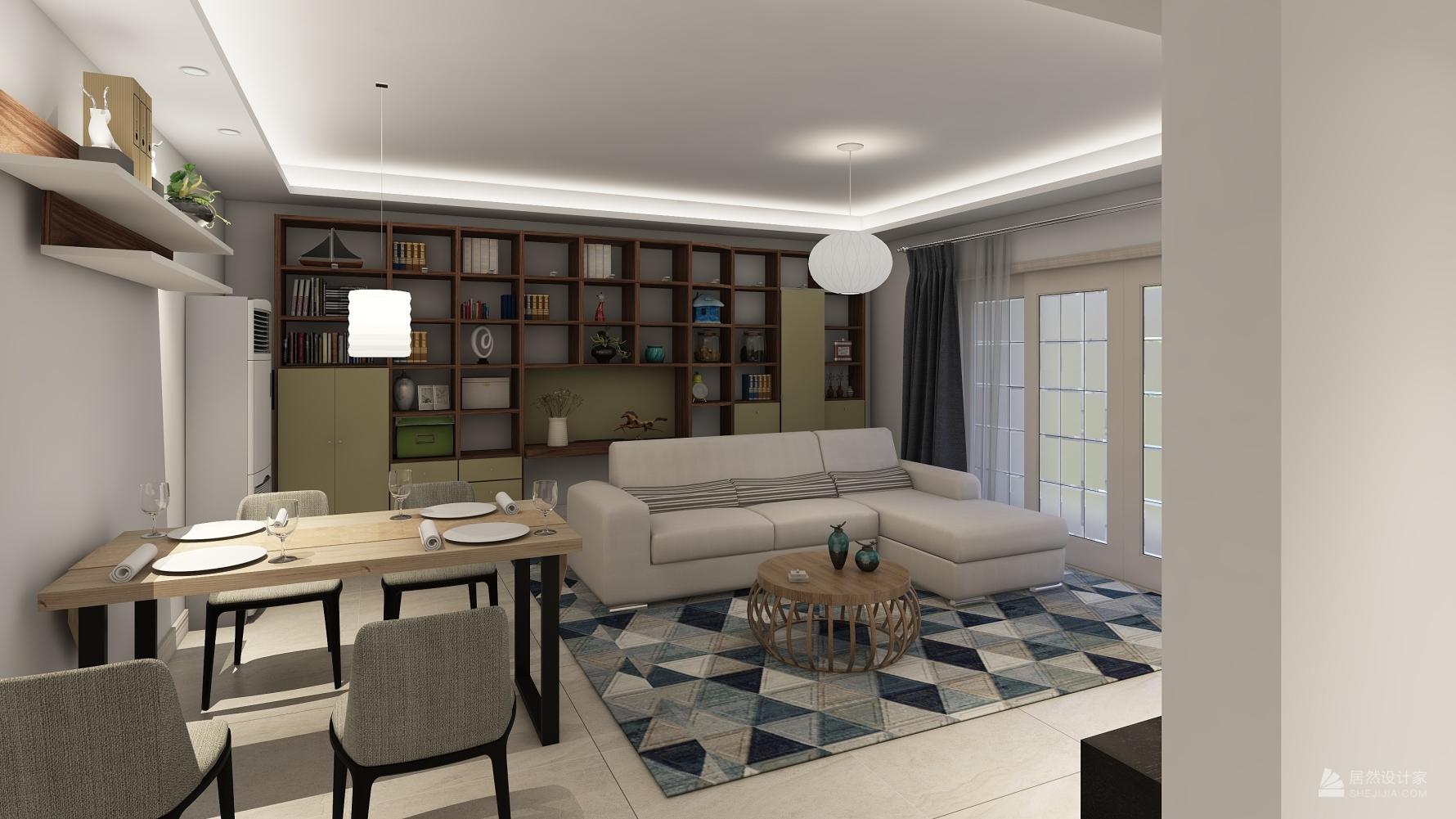 日式风格三室一厅装修设计效果图