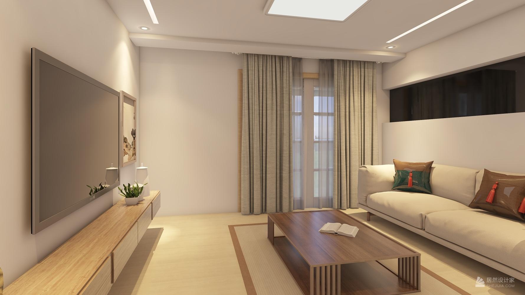 日式风格一室两厅装修设计图