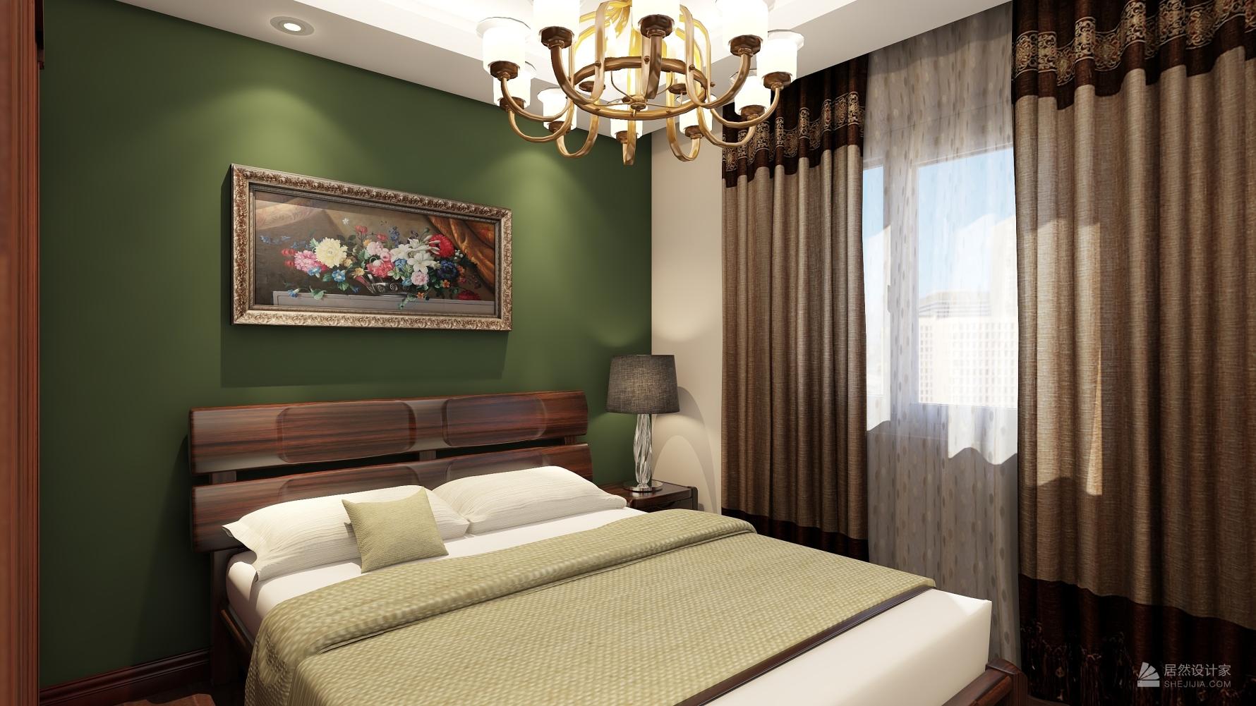 东南亚风格两室一厅装修设计图