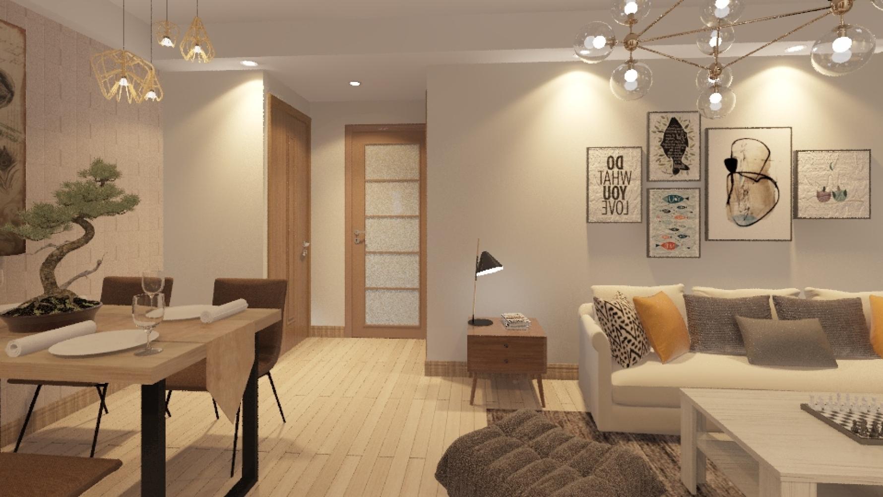 北欧风格两室两厅装修设计图