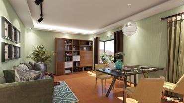 田园风格一室一厅装修设计效果图
