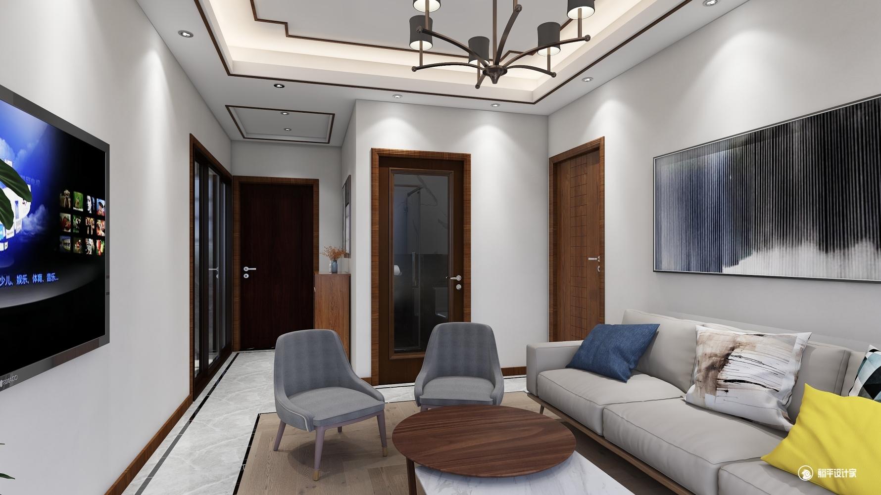中式风格一室一厅装修设计图