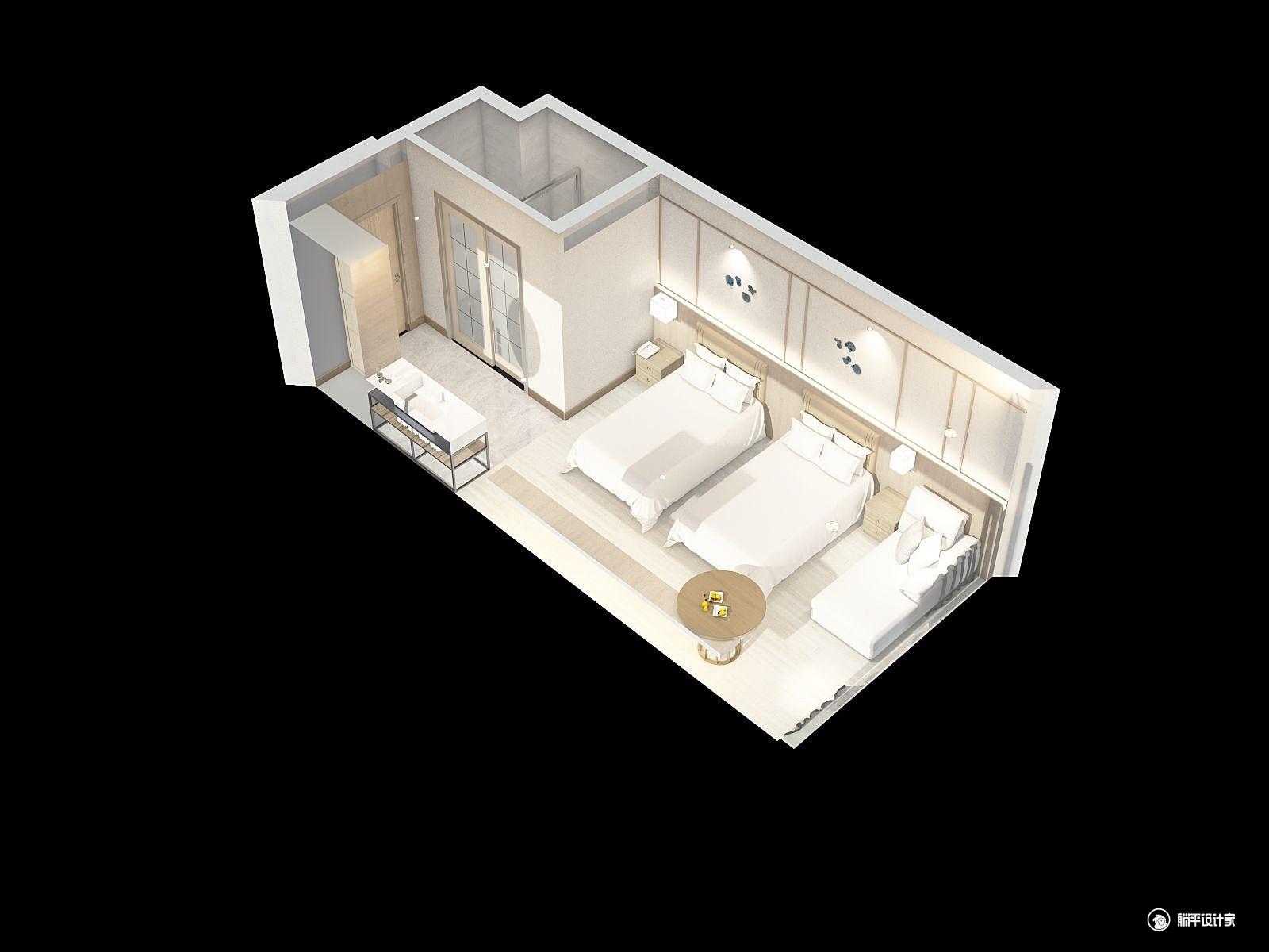 混搭风格一室装修设计效果图
