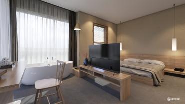 中式风格一室装修设计效果图