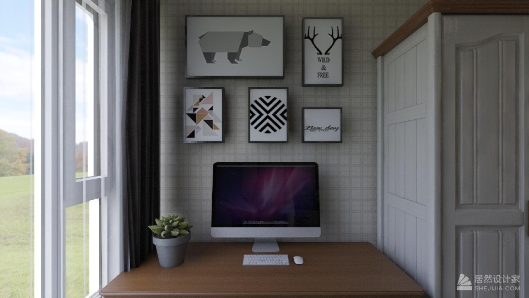 美式风格三室两厅装修设计图