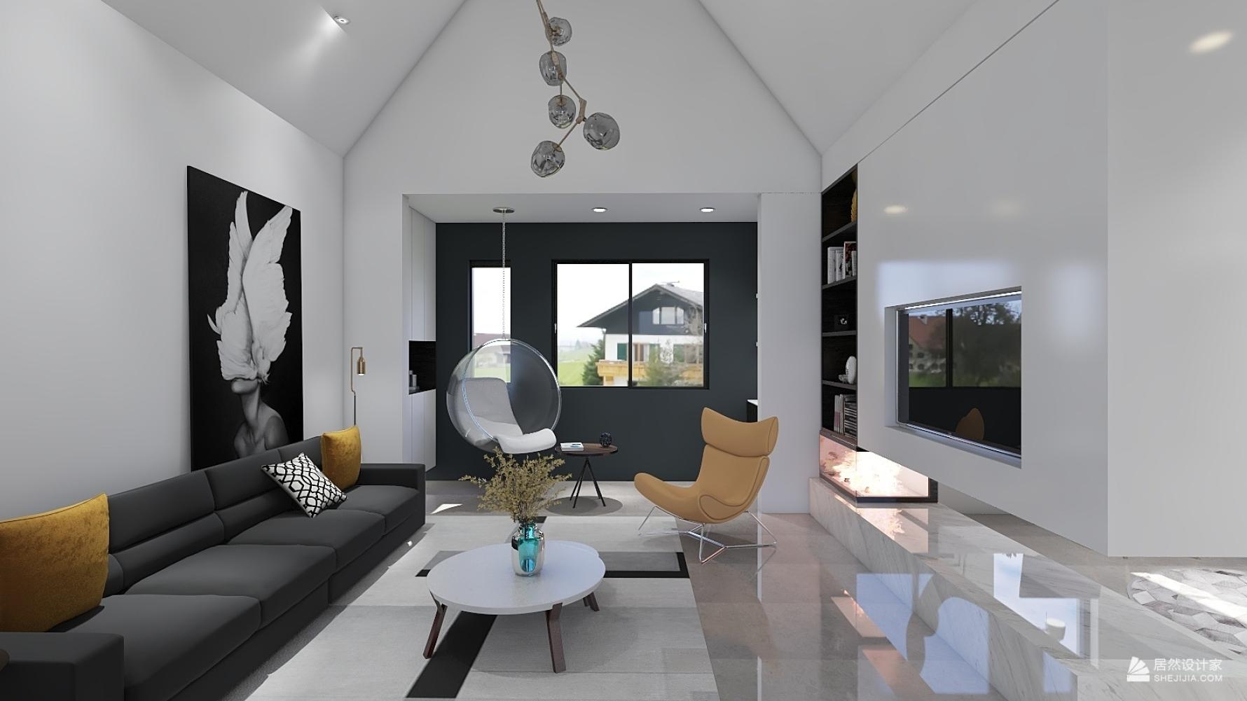 现代风格三室两厅装修设计图
