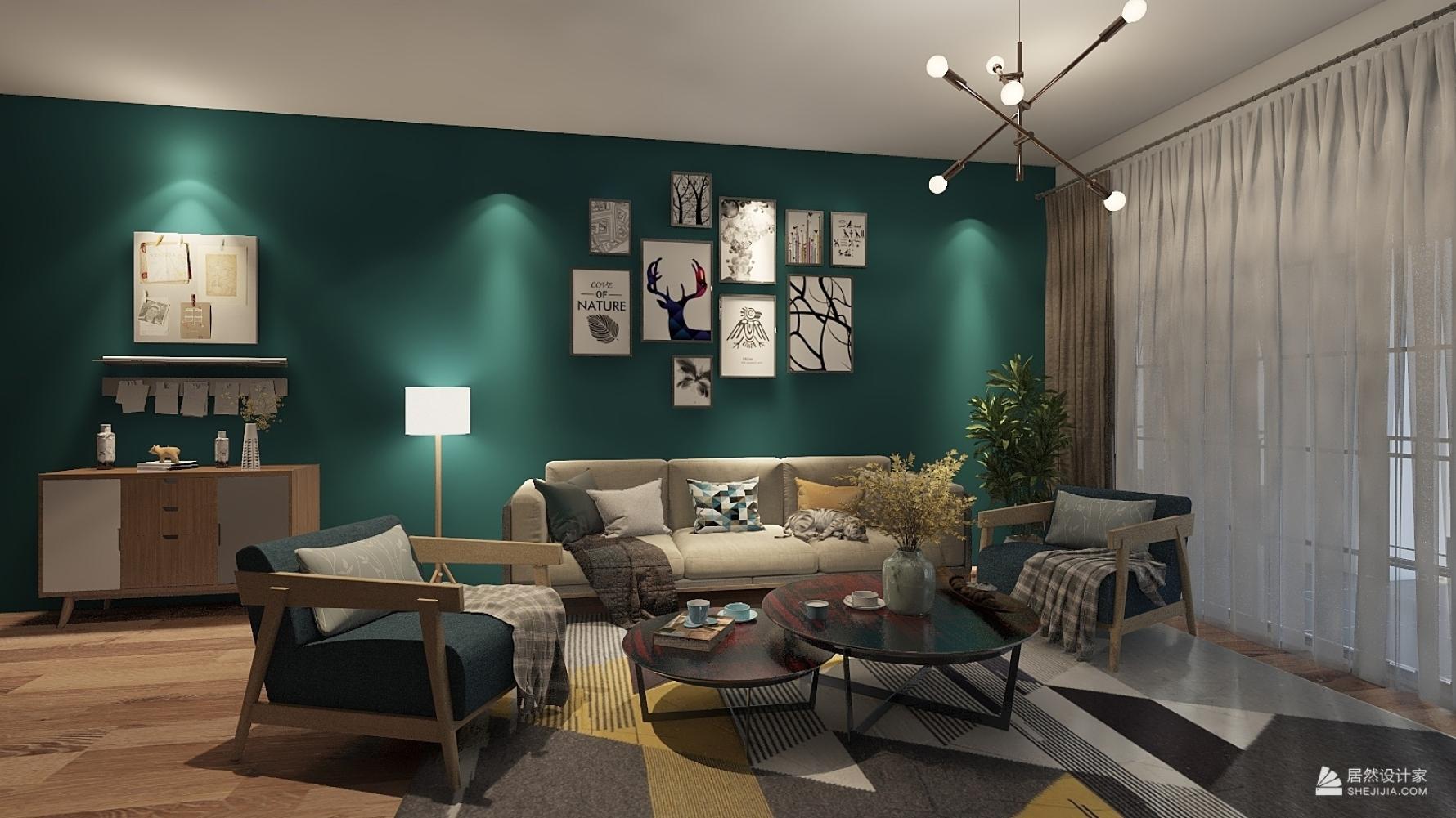 混搭风格四室两厅装修设计图