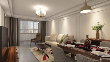 欧式风格两室一厅装修设计效果图