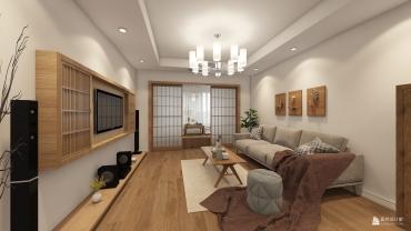 日式风格两室两厅装修设计效果图