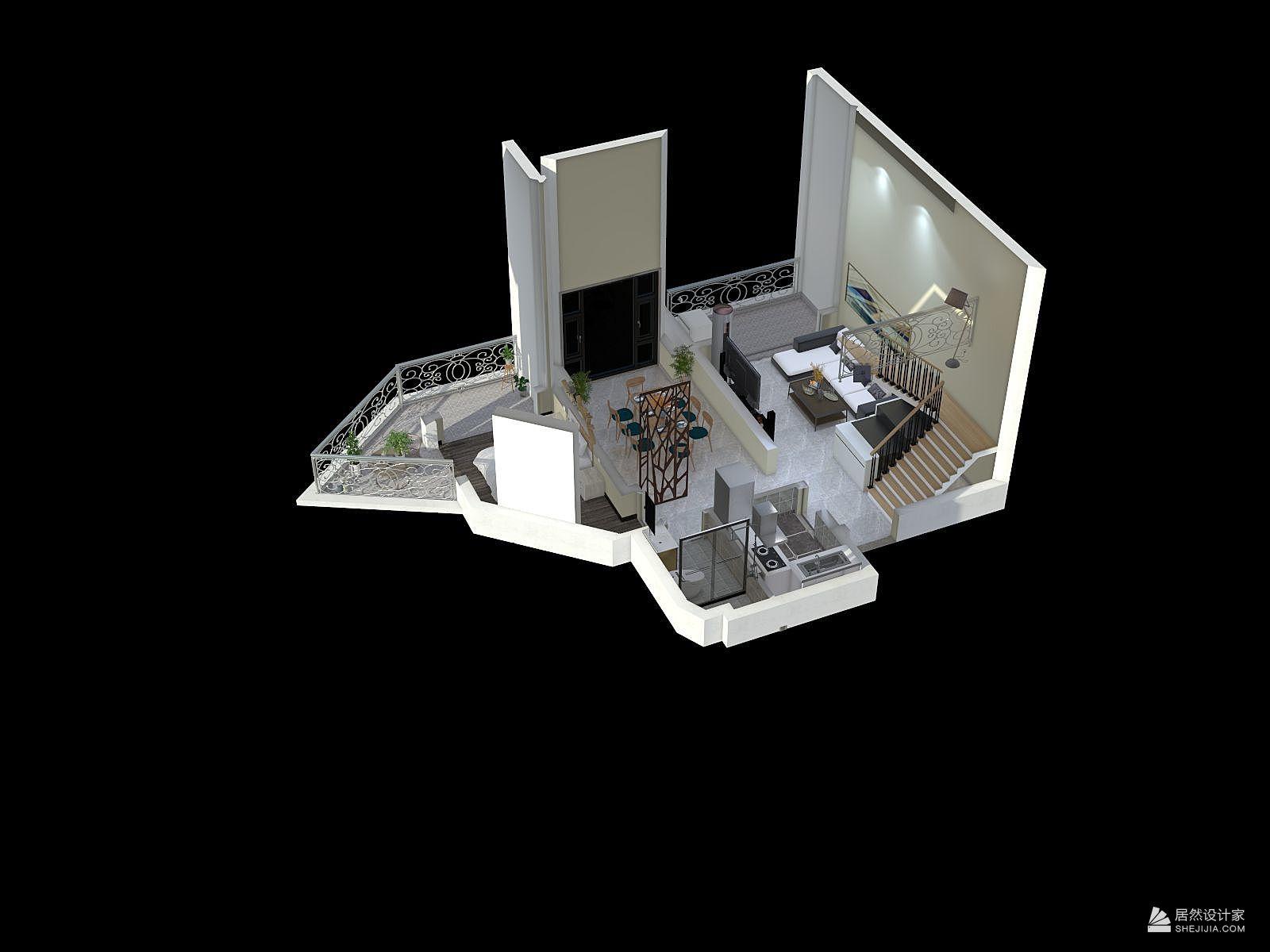 北欧风格四室三厅装修设计效果图