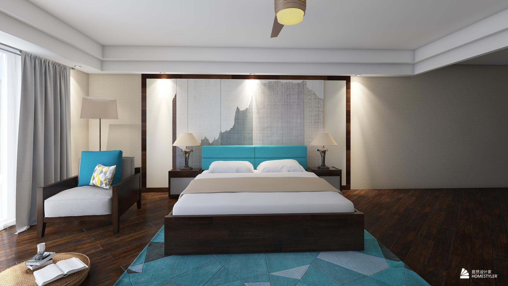 东南亚风格一室一厅装修设计图