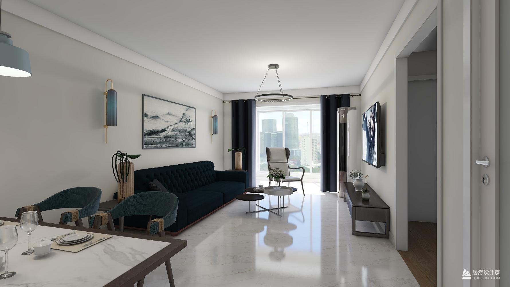 其它风格两室两厅装修设计图