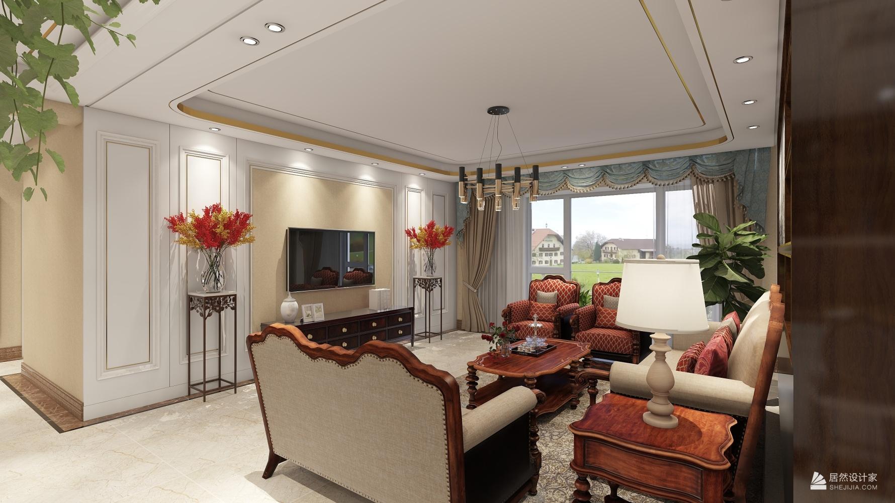 其它风格三室两厅装修设计图