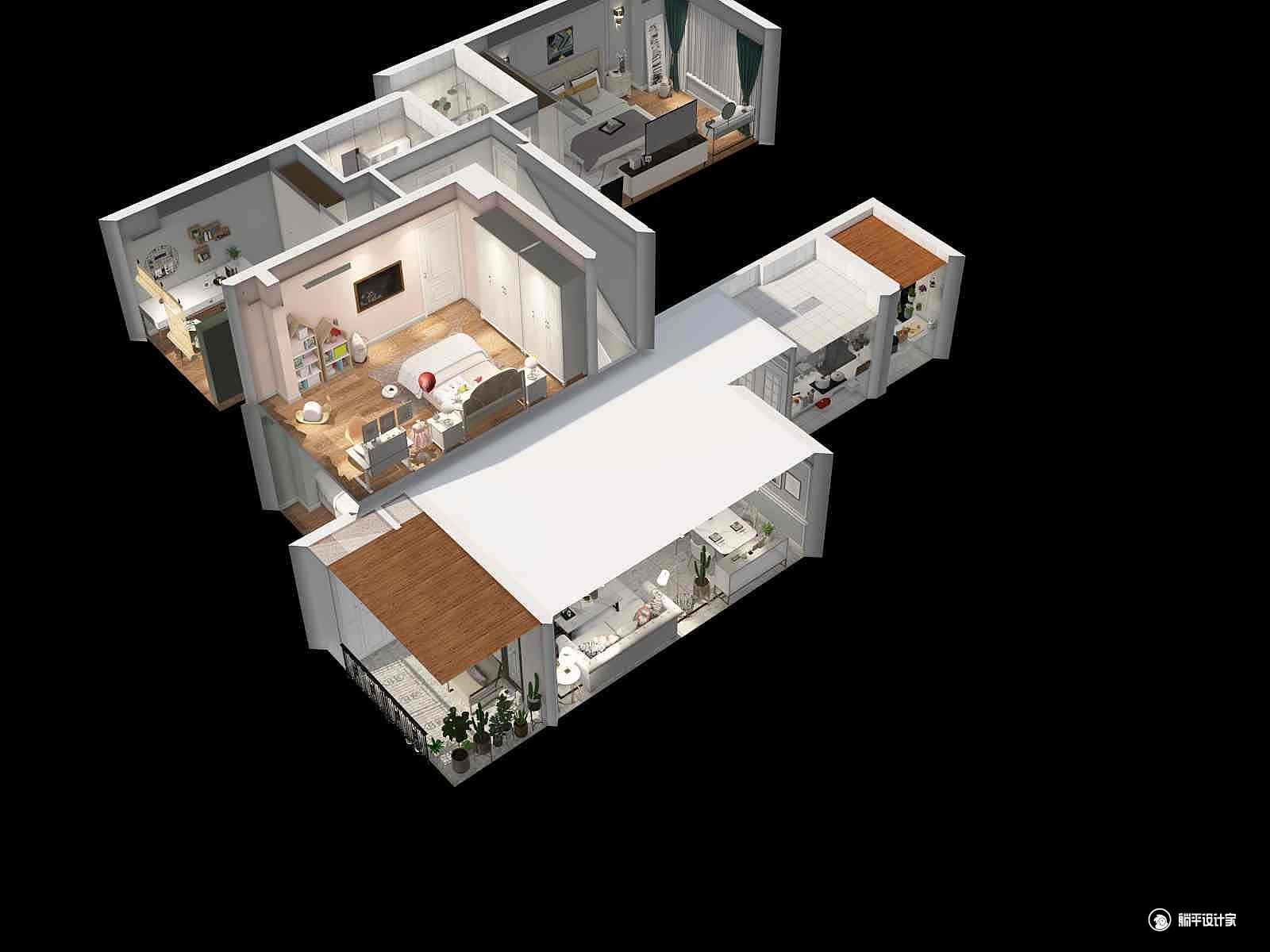 美式风格四室两厅装修设计效果图