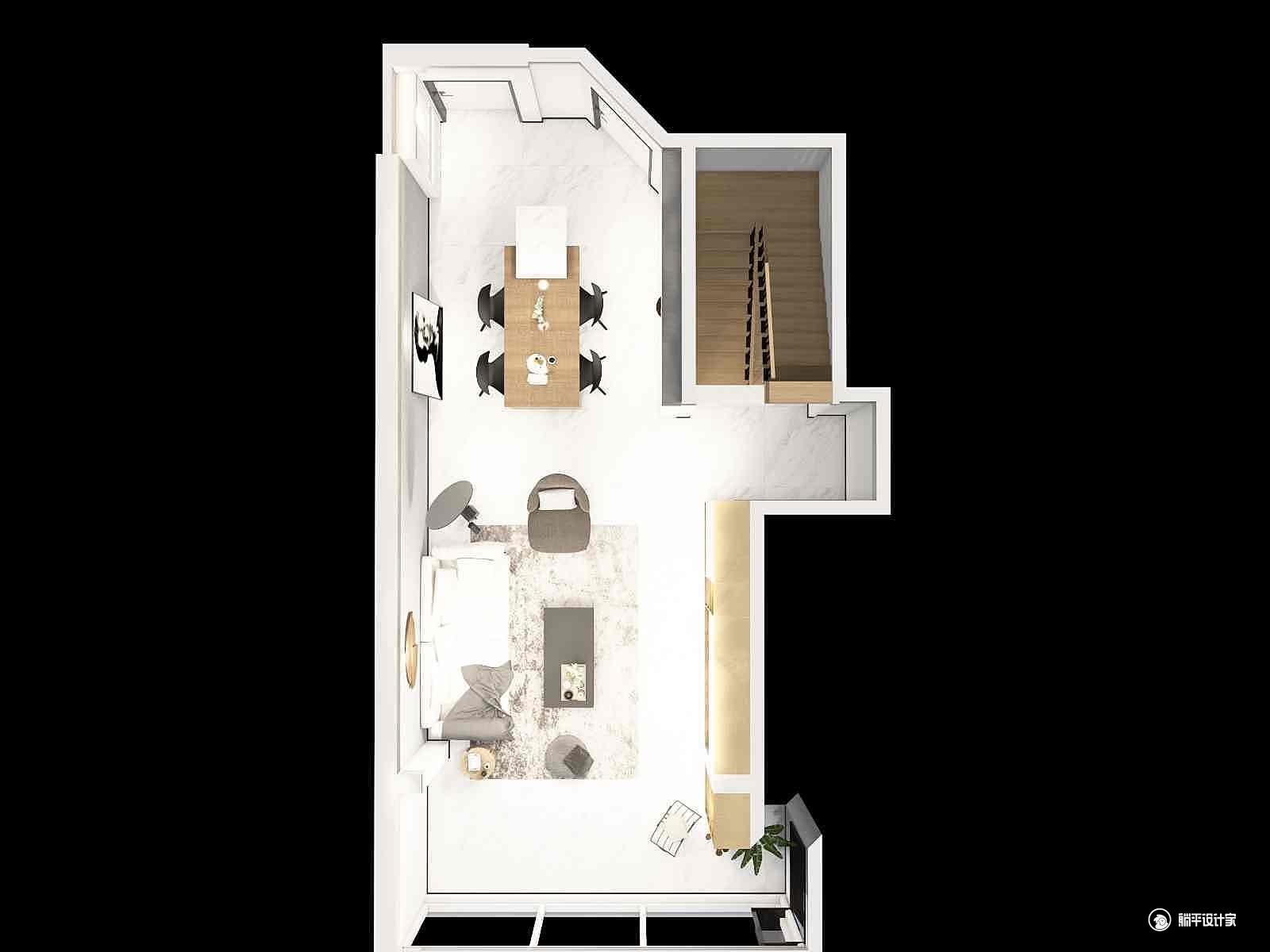 现代风格一厅装修设计效果图