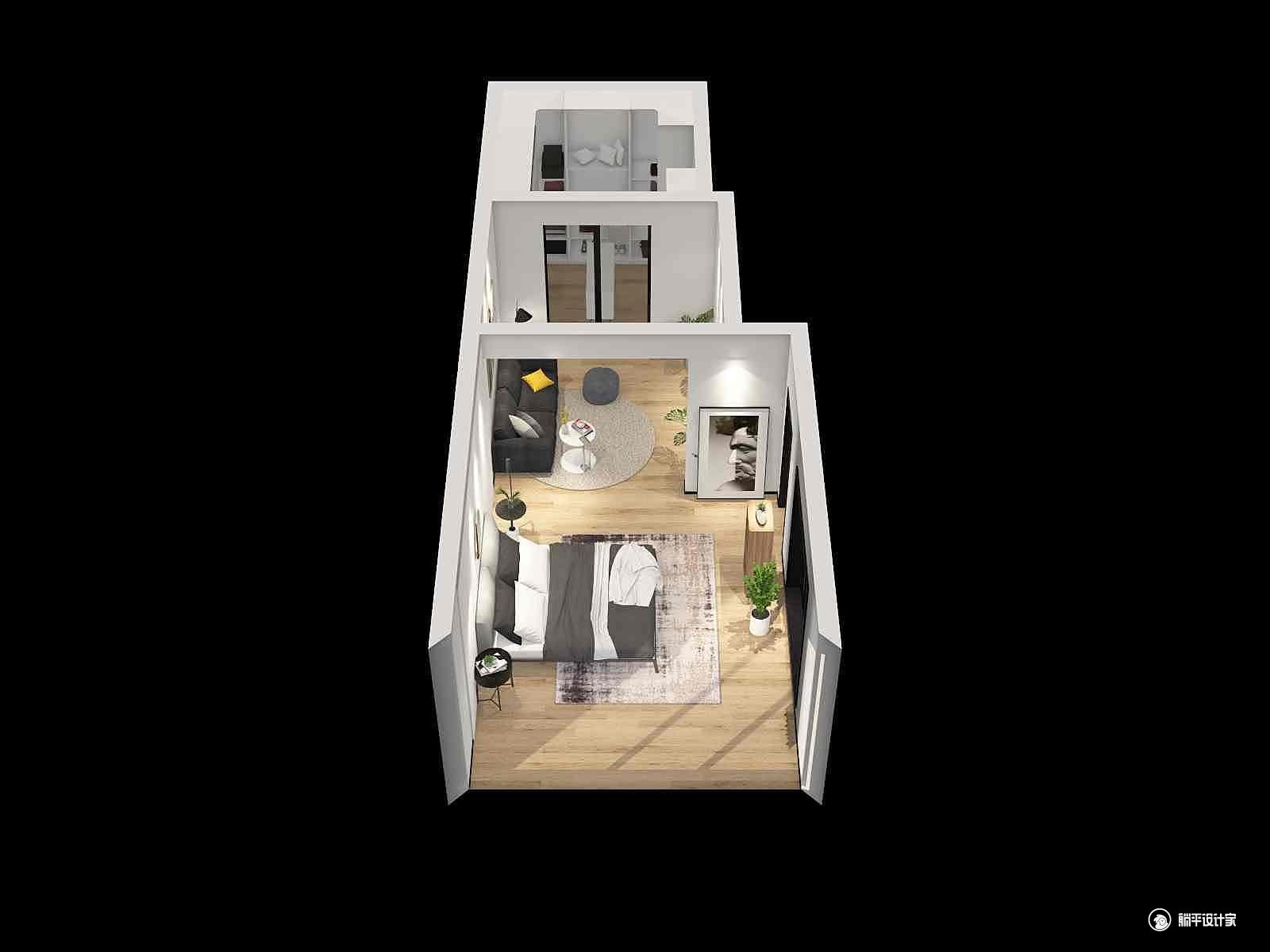 其它风格一室装修设计效果图