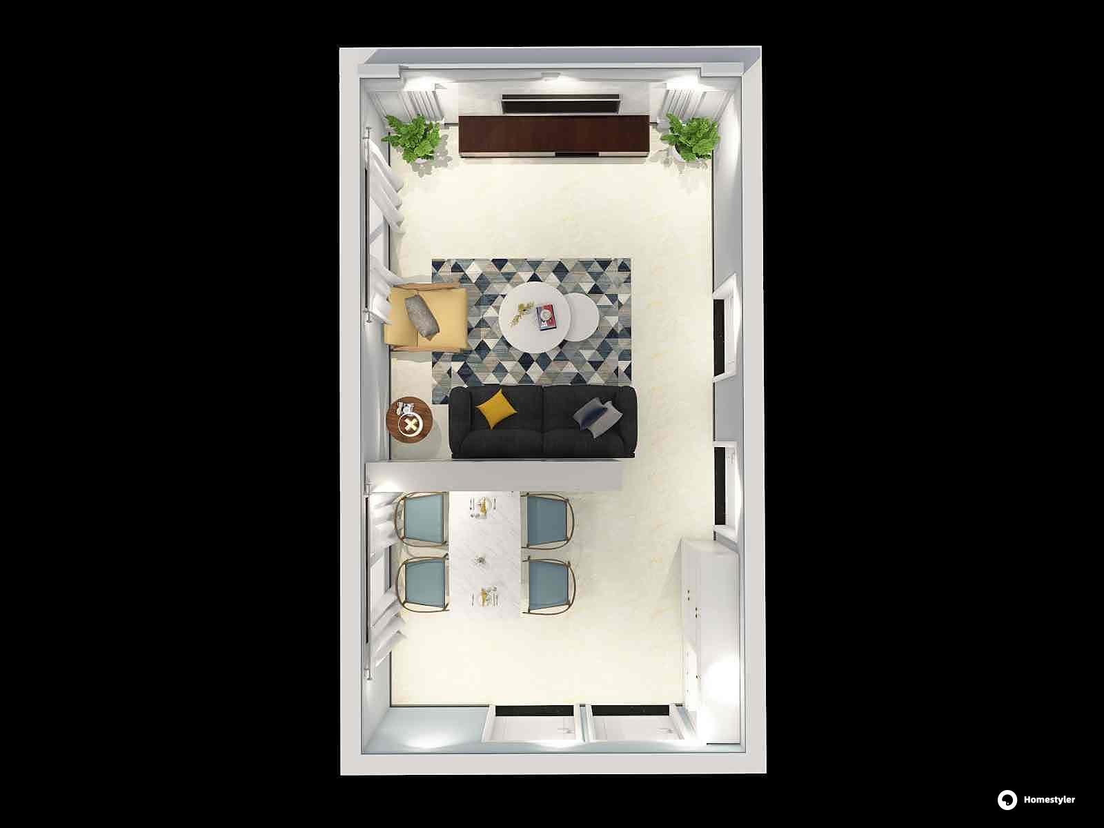 北欧风格一厅装修设计效果图