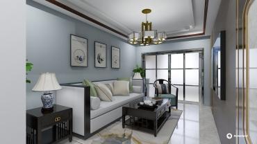 新古典风格三室一厅装修设计效果图