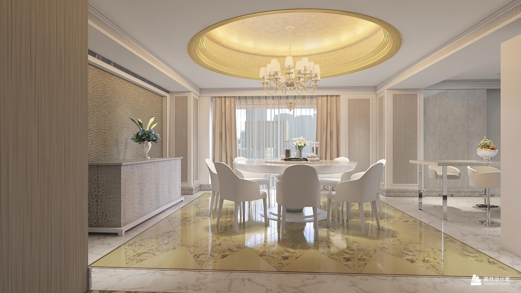 欧式风格四室三厅装修设计效果图